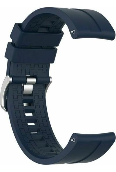 Kny Samsung Galaxy Watch 3 Bluetooth 45mm (22mm) Standart Silikon Kayış-Kordon Lacivert