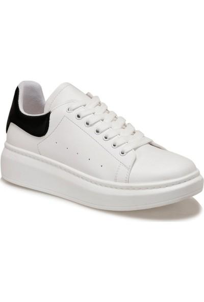 Butigo Adelitas Beyaz Kadın Havuz Taban Sneaker