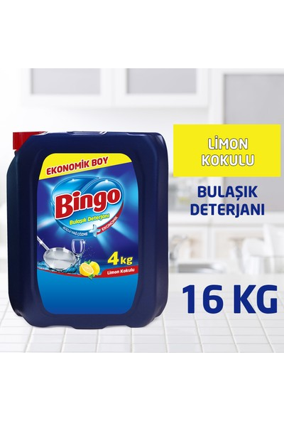 Bingo Bulaşık Sıvısı 4 kg Limon 4'lü