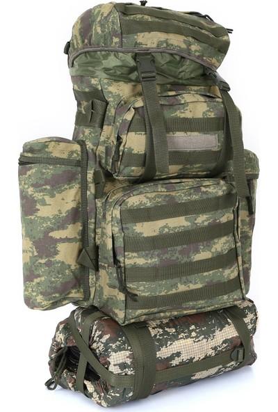 Asker Kolisi 90 lt Kamuflaj Taktik Arazi Kamp ve Dağcı Çantası