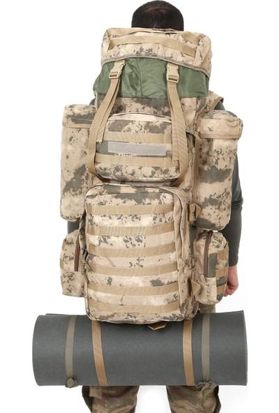Asker Kolisi 110 lt Çöl Kamuflaj Operasyon Askeri Dağcı Taktik Çanta