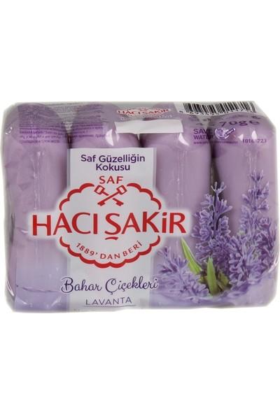 Hacı Şakir Güzellik Sabunu 4'lü 70GR Lavanta-24'lü