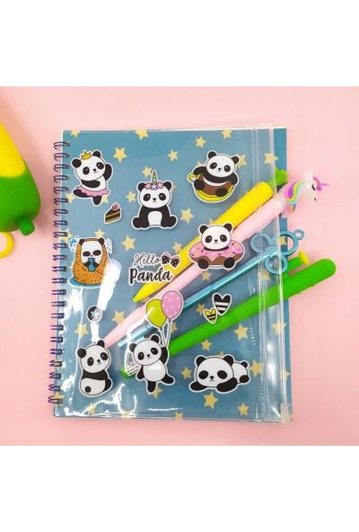 Şeker Ofisi Hello Panda Kalemlikli Defter Çizgili