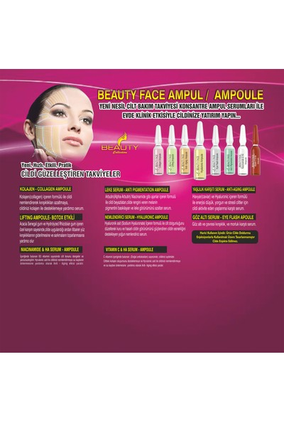 Beauty Face Gözaltı Serum Ampul 2ml x 6 Adet