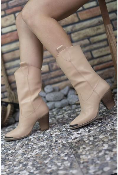 Riccon Cilt Ten Rengi Kadın Çizme 0012301
