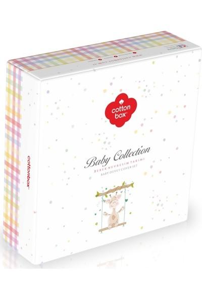 Cottonbox Gezegen Beyaz Bebek Nevresim Takımı