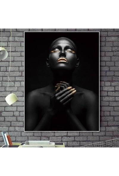 3M Afrikalı Kadın Mdf Tablo Siyahi Kız