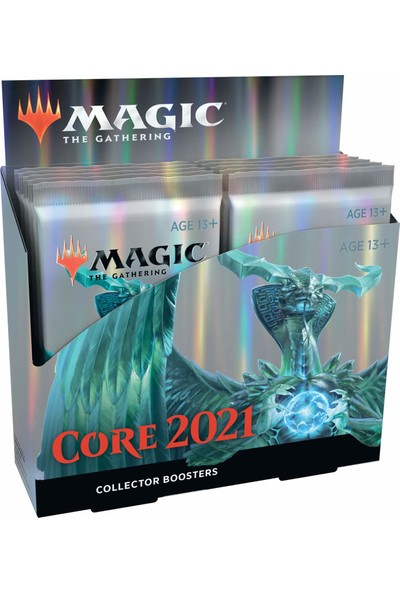 Magic: The Gathering Core Set 2021 (M21) Collector Booster Box 12 Paket