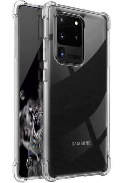 Tekno Grup Samsung Galaxy S20 Ultra Kılıf Ultra Korumalı Şeffaf Anti Shock Kılıf