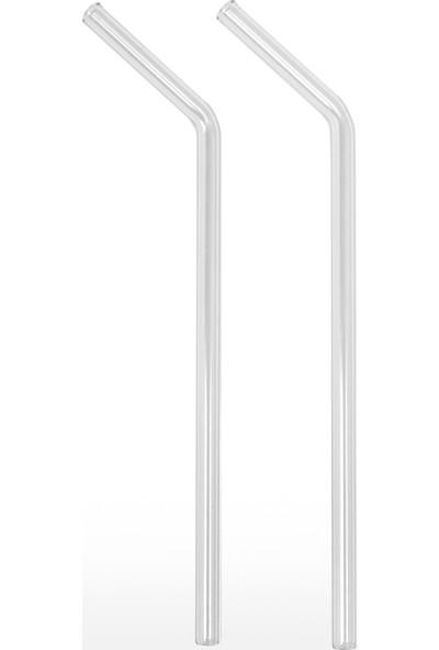 Cen Cam 2'li Şeffaf Pipet 9 mm Çaplı
