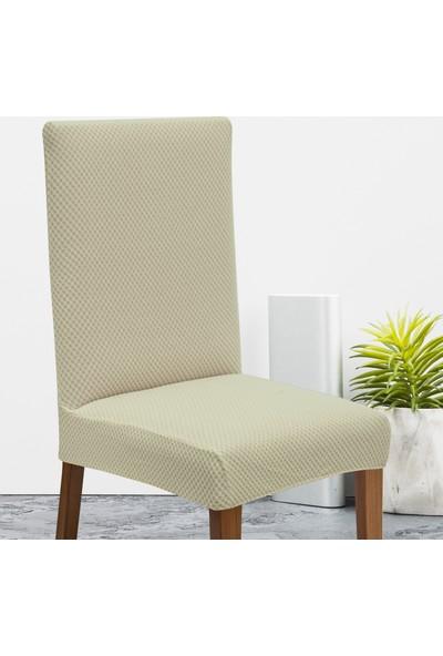 Latuda Likralı Yıkanabilir Kapuçino Sandalye Kılıfı | Sandalye Örtüsü 6'lı