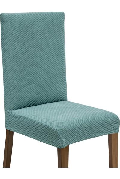 Latuda Likralı Yıkanabilir Turkuaz Sandalye Kılıfı | Sandalye Örtüsü 6'lı