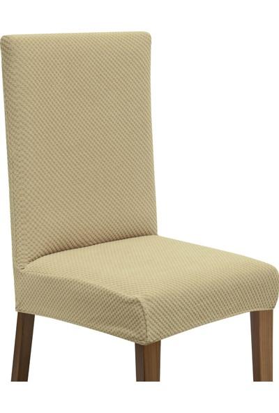 Latuda Likralı Yıkanabilir Vizon Sandalye Kılıfı | Sandalye Örtüsü 4'lü