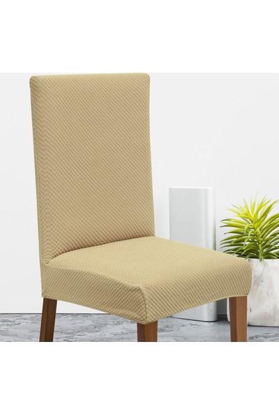 Latuda Likralı Yıkanabilir Vizon Sandalye Kılıfı | Sandalye Örtüsü 6'lı