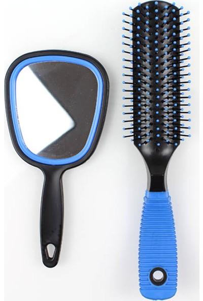Elly Mavi Aynalı Saç Fırça Seti -8
