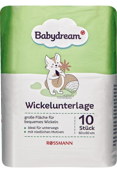 Babydream Bebek Alt Değiştirme Örtüsü 10 Adet