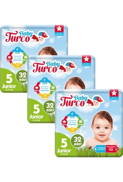 Baby Turco Bebek Bezi 5 Beden Junior 96' lı 12 -25 kg