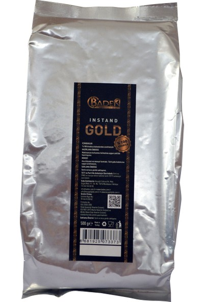 Baden Instant Kahve Gold 500 gr Folyo