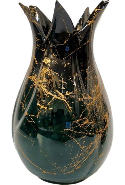 Otogar Çini Lale Vazo Seti 3'lü