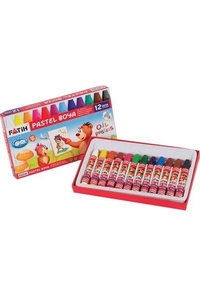 Fatih Boyama Seti 12 Renk Pastel + Sulu + Kuru + Keçeli Kalem 4'lü