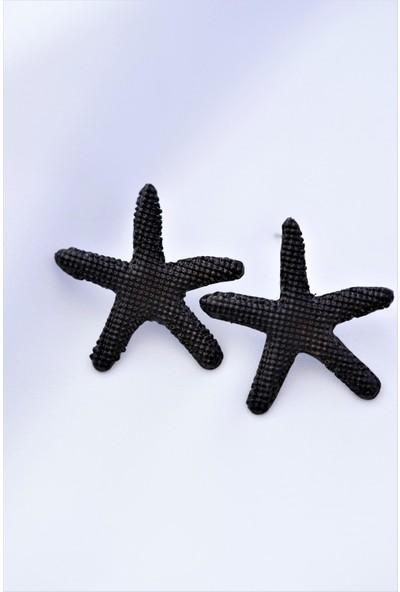 La'dess Accessories & Collections Ld Denizyıldızı Siyah Renkli Küpe