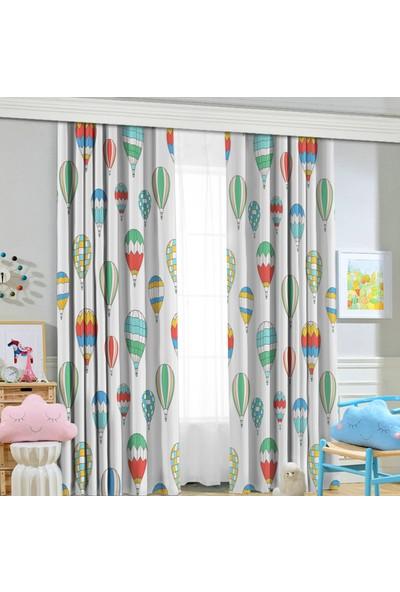 Jungle Balonlu 70 x 260 Çocuk Odası Fon Perde