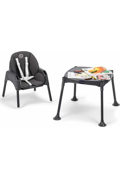 Elele Pasto 3in1 Çalışma Masalı Mama Sandalyesi + Gri Iç Ped