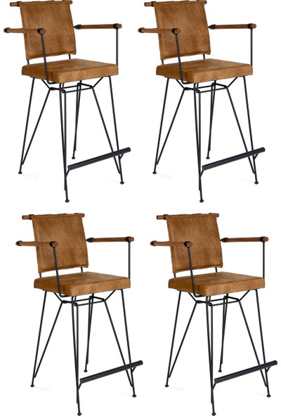 İndirimse Home 4 Adet Penyez Bristo Bar Tipi Metal Tel Sandalye