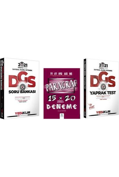 Yediiklim Yayınları DGS Soru Bankası Yaprak Test Paragraf 3lü Set
