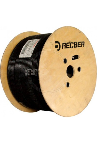 Reçber Cat6 U/utp 23AWG Pe Siyah Dış Ortam Kablo REÇ-506025 - 500M