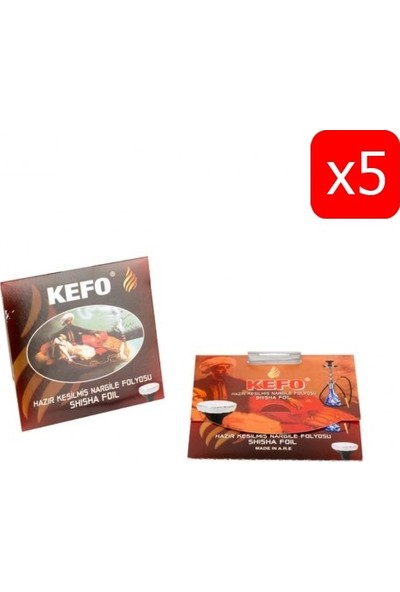 Kefo Hazır Kesilmiş Nargile Folyosu 20'li - 5 Paket