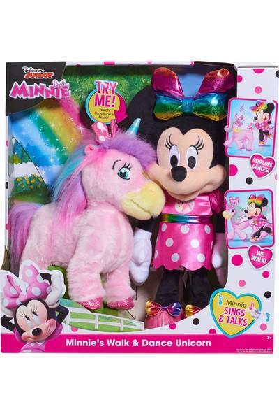 Minnie Mouse ve Dans Eden Şarkı Söyleyen Unicorn Peluş Oyuncak
