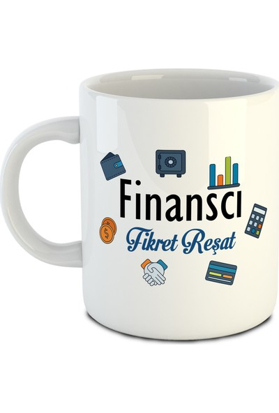 Dafhi Kişiye Özel İsimli Kupa - Meslek Finanscı