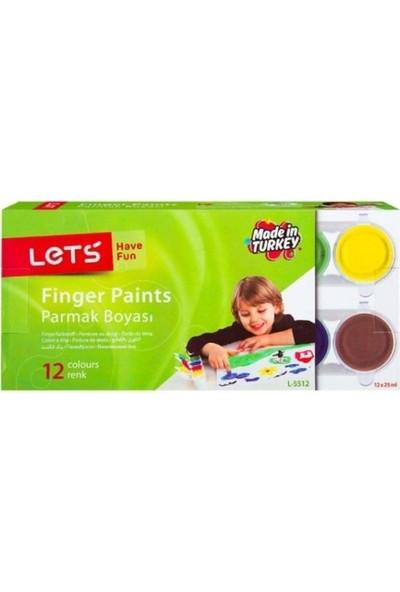 Let's 12 Renkli Parmak Boyası
