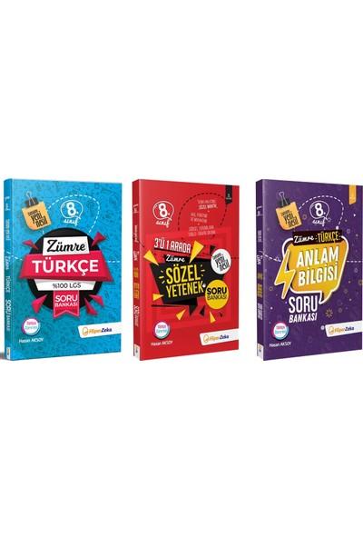 Hiper Zeka 8.sınıf LGS Zümre Türkçe Sözel Yetenek ve Anlam Bilgisi Yeni Nesil 3.kitap