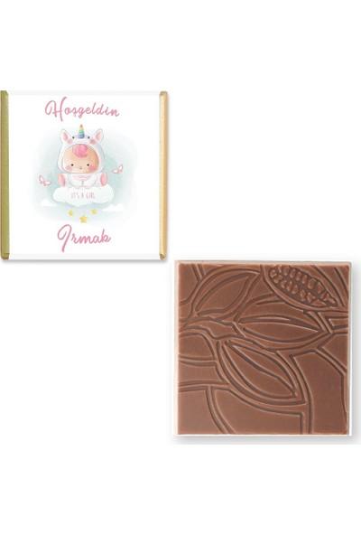 Valonia Dila Çikolata Kız Bebek Çikolatası (100 Madlen ve Draje)