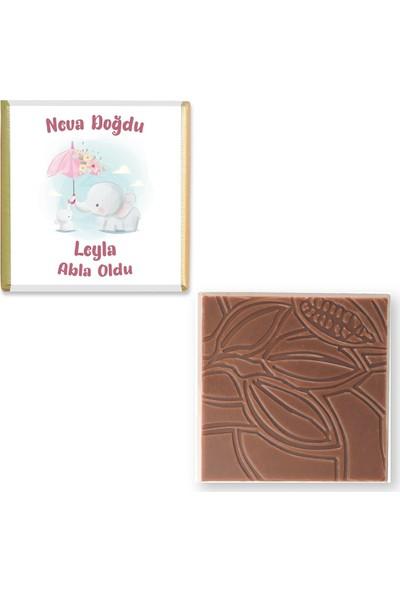 Valonia Dila Çikolata Kız Bebek Çikolatası (70 Madlen)