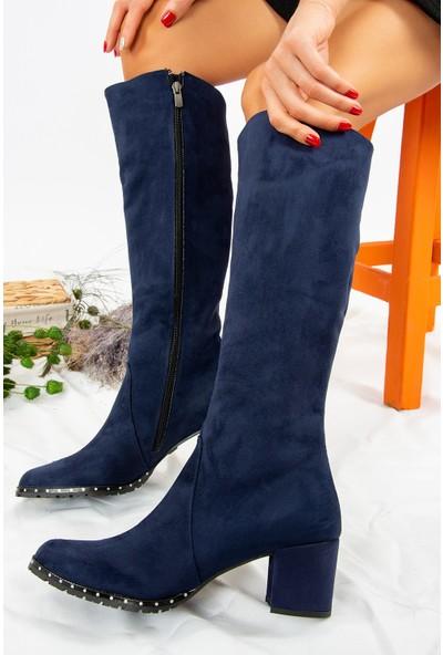 Fox Shoes Lacivert Kadın Çizme C654652702