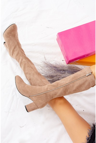 Fox Shoes Vizon Kadın Çizme J610380102