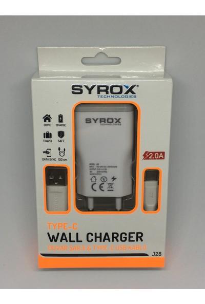 Syrox Type-C Şarj Aleti Adaptör + Kablo