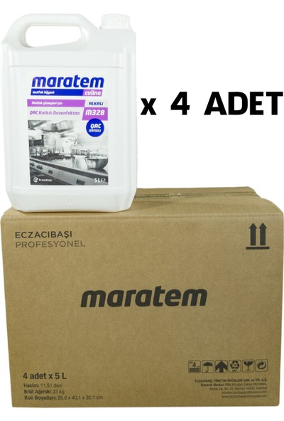 Maratem M328 Qac Katkılı Yüzey Dezenfektanı 5 lt x 4 Adet