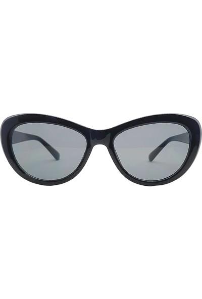 Rhinestone Kadın Siyah Parlak Güneş Gözlüğü