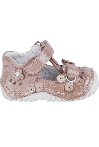 Kiko Kids Teo 106 Deri Cırtlı Kız Çocuk Ayakkabı Pudra