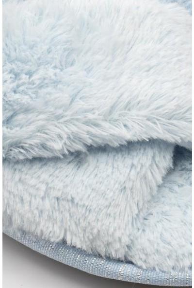 Twigy SS0587C Pufi Mavi Kadın Kışlık Terlik