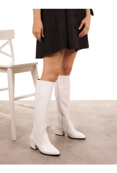 Mio Gusto Kadın Lidya Beyaz Çizme