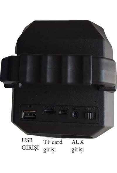 Mkey KTS-1052 Işıklı Bluetooth'lu Usb'li Tf Kart Girişli Yüksek Sesli Ses Bombası Hoparlör