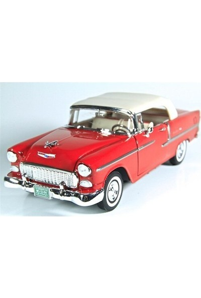Motor Max 1:24 1955 Chevy Bel Air Diecast Model Araba Kırmızı
