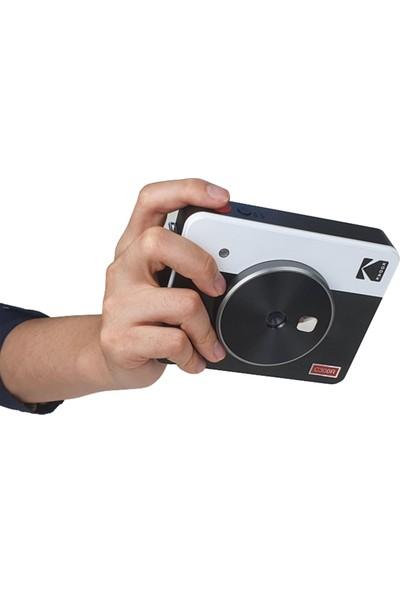 Kodak Mini Shot Combo 3 RETRO/C300R - Anında Baskı Dijital Fotoğraf Makinesi - Beyaz