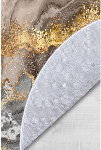 Colizon 50X80 - 40X50 Dijital Banyo Halısı Kaymaz Tabanlı Oval Klozet Takımı TYKOB-2375-4-1-K