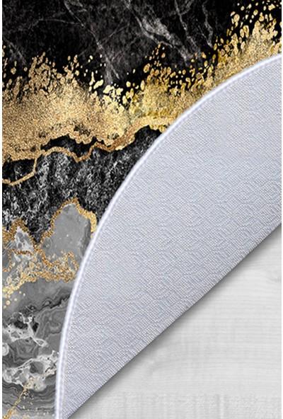 Colizon 50X80 - 40X50 Dijital Banyo Halısı Kaymaz Tabanlı Oval Klozet Takımı TYKOB-2375-5-1-K